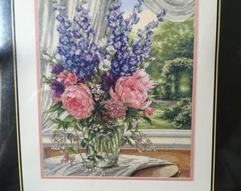 Dimensions Gold Collection ***Peonies & Delphiniums*** NEW Counted Cross Stitch Kit #35257