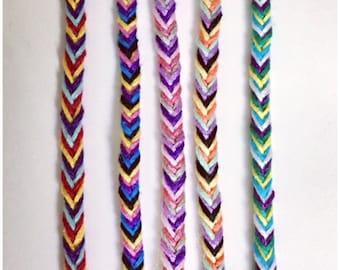 Fishtail Friendship Bracelets   Woven Bracelets   Friend Gift