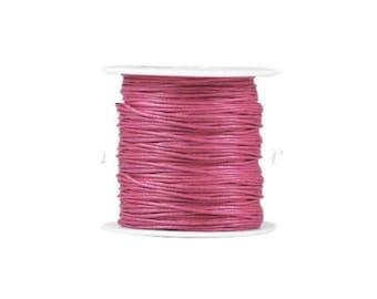 1 m pink thread NYLON cord for bracelet beads shamballa macrame 1 mm ref3