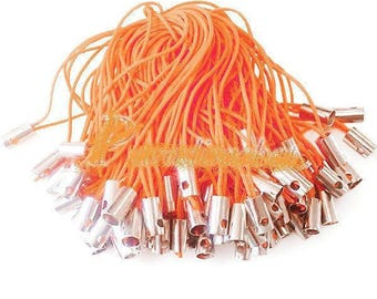 50 orange portable cord strap for phone cord ties