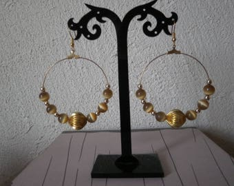 "Large hoop earrings ""chestnuts"""