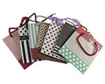 12 x Gift Shopping Card Paper Bag - 150x130x70mm - D0206
