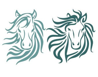 Horse Cuttable SVG PNG DXF & eps Designs Cameo File Silhouette