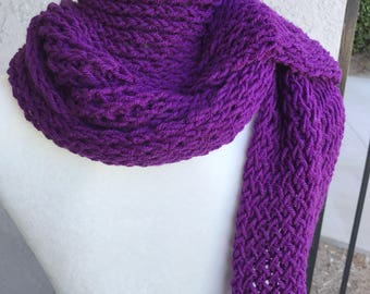 Handmade Knitted Scarf / Shawl - Item #5005