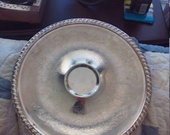 Leonard silverplate serving platter