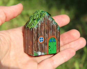 Miniatures STICK MAN, Doll house, house, small house, fabulous, children's, toy, pocket house, decor, interior, portable, Tiny, wooden