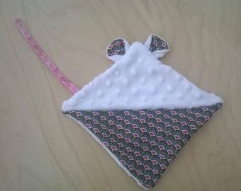 Flat plush mouse soft