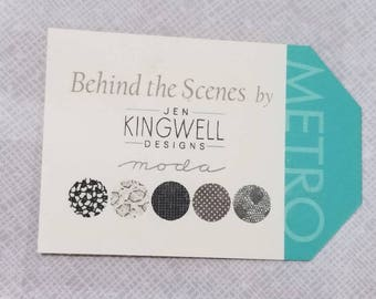 Jen Kingwell BEHIND the SCENES layer cake precut quilting fabric new