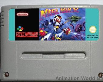 Megaman X (Mega Man) SNES game Super Nintendo PAL new repro game
