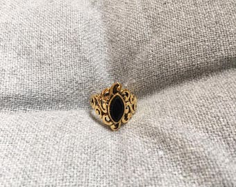 Vintage Gold Costume Jewellery Ring