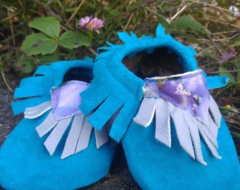 Teal & Lavender Baby Shoes