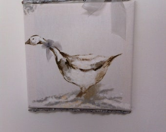 """Painting on fabric """"Goose"""""""
