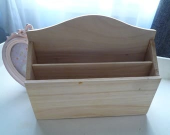 Wood mail sorter natural paint/customize