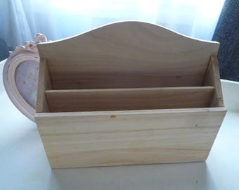 Mail sorter wood natural to paint or customize