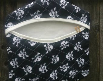 Skulls Quilted Clothes Pin / Peg Bag