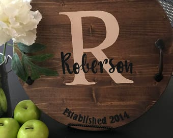 Monogram Cheese Tray