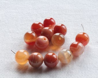 Natural Agate beads 5 shades of Brown Tan 10mm