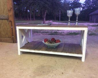 Hand-crafted coffee table