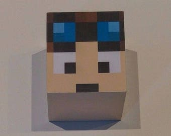 Minecraft inspired Dan tdm moneybox piggy bank