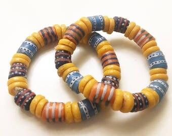 Multi-Colour bracelet handcrafted in Ghana