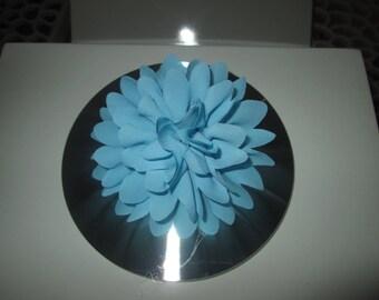 Turquoise Blue Fleur, Hairclip, brooch ceremony hair clip, wedding, children...