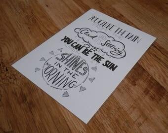 Perfect Two - A4 Original Typographic Illustration