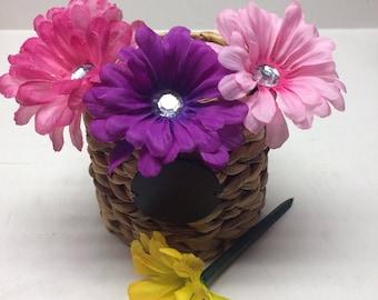 Handmade Flower Pens with Bling Center