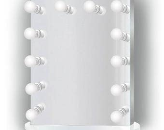 25 inch x 31 inch Lighted Hollywood Vanity Mirror | LED Makeup Mirror |Table Top Or Wall Mount | Plug-in