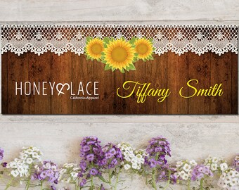Honey and Lace Facebook Cover Photo, Custom Honey & Lace Facebook Photo, Custom Honey Lace Facebook, Sunflower, Digital Files HL03