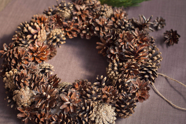 Pine Cone Wreath DIY Wreath Christmas Wreath Christmas Decor