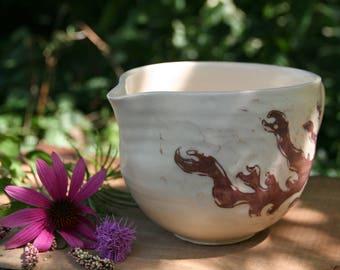 Flame Batter Bowl, Ceramic Kitchen Batter Bowl, Mixing Bowl, Ceramic Pour Bowl, Pottery Batter Bowl, Batter Bowl Pottery