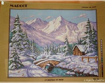 """Nine """"Coat of snow"""" canvas 60 x 80 cm"""