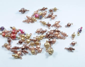 LT2 - Set of 69 various multicolor beads