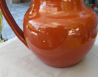 Terra cotta water pitcher