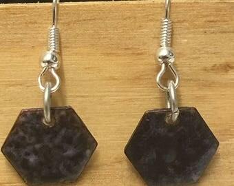 """Earrings in enamel ' The dark side..."""""""