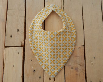 Lined in bamboo and organic cotton bandana bib