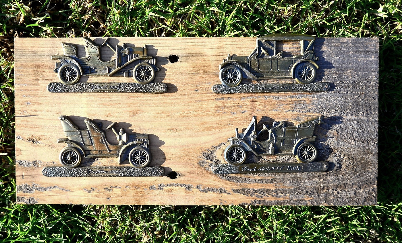 Antique car ford buick cadillac chevrolet wooden plaque Wall Hanging ...