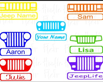 Jeep Grill with name on bumper