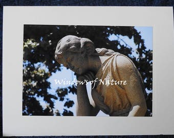 Contemplation Sculpture Blank Note Card