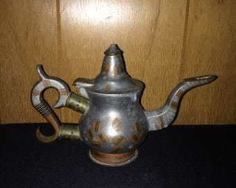 Metal Tea Pot From India Vintage