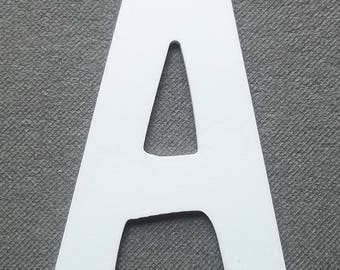 Letter PVC plastic model DOM CASUAL; all letters available