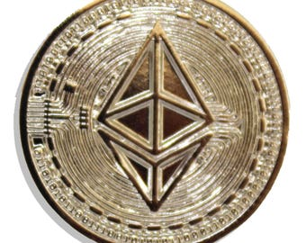 Ethereum Nickel Hard Enamel Pin