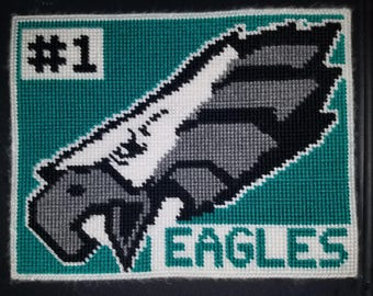 Philadelphia Eagles Hand-Stitched Yarn Picture