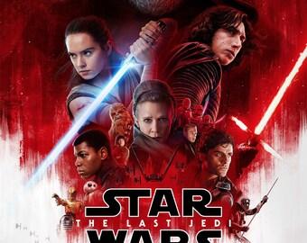 Star Wars Last Jedi Red High Resolution Movie Poster