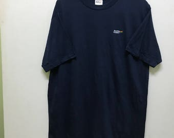 Rare!!! Benetton T-shirt Pullover Spellout Small Logo Embroidered