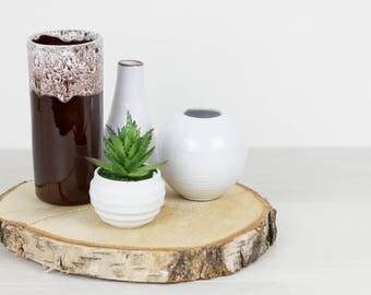 Cylinder vase with sparkling glaze