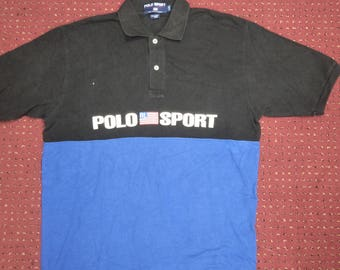 RARE!! Polo Sport by Ralph Lauren spell out big logo streetwear