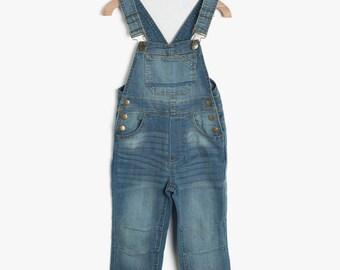 Blue Denim Overalls,Jeans Jumpsuit kids boys,Denim shortalls