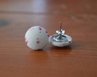 Pink Floral Handmade Earrings