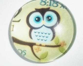 lovely blue owl, 25mm